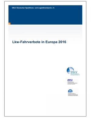 LKW Fahrverbote Europa 2016