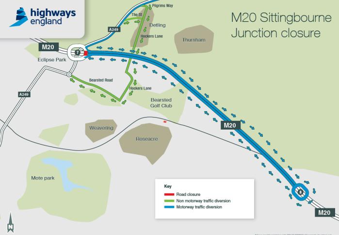 m20-sittingbourne-junction-closure